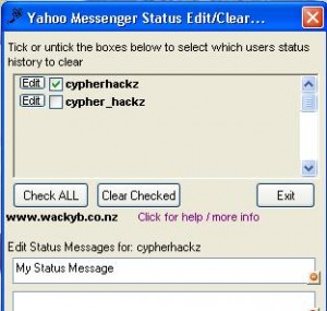 How to delete Yahoo! Messenger status messages