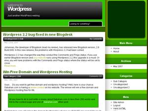 CypherFS Greeny WordPress Theme Released