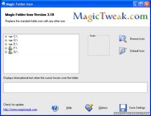 Change folder icons with Magic Folder Icon