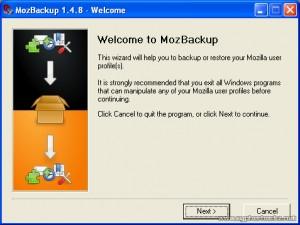MozBackup – Backup Mozilla Thunderbird and Mozilla Firefox profiles