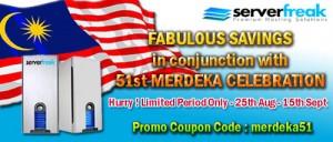 ServerFreak Malaysia Web Hosting Merdeka Promotion