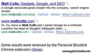 How to Block Websites from Google's Web Search Results?