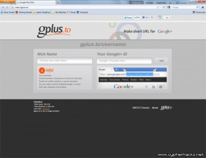 Make short URL for Google+ profile with gplus.to