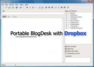 Portable BlogDesk with Dropbox